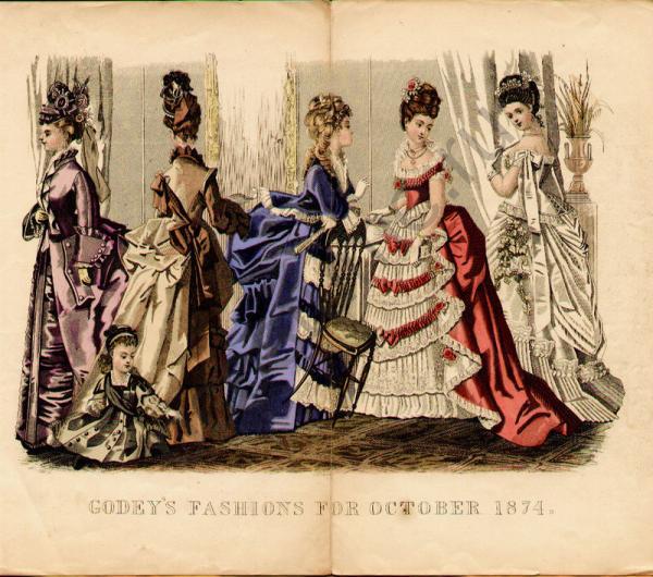 Женское платье 18 века америка