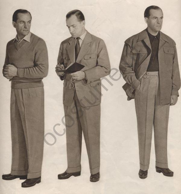 dcd69354328 Летний мужской костюм. Мода в Чехословакии 1957 год