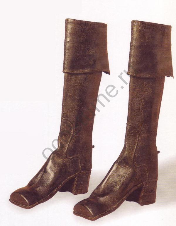 cac095331 Мужские сапоги из кожи. Англия.1770 год