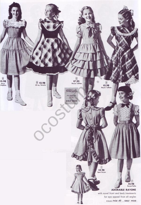 b6050f5c5be Платья для девочек. Америка 1949 - 1950 гг