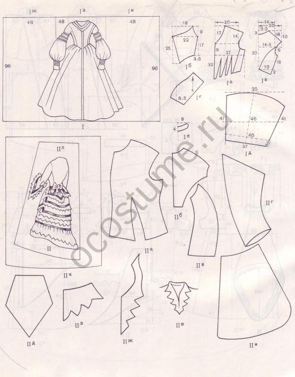 Как сшить платье 18 века выкройки 50
