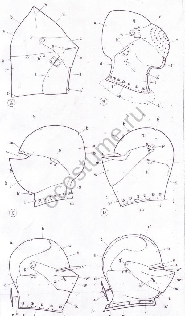 Схема построения выкройки шлема Детский велосипедный